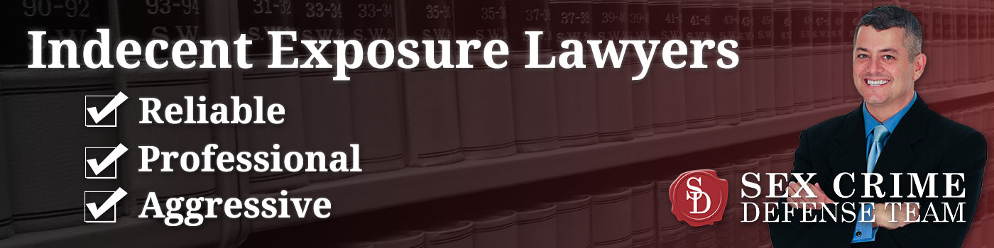 Indecent exposure lawyers banner image